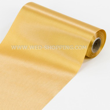 Gold Satin Rolle 16 cm x 9 m
