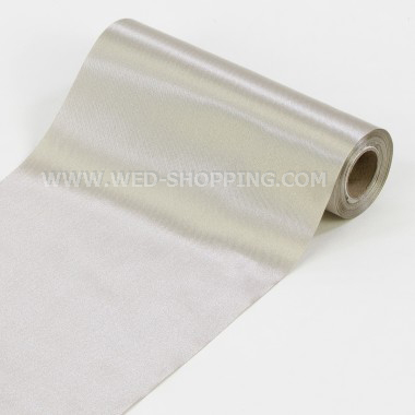 Silber Satin Stoff Rolle 16 cm x 9 m